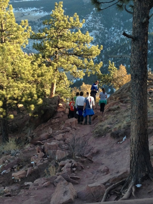Mt. Sanitas, hikers, Boulder, CO